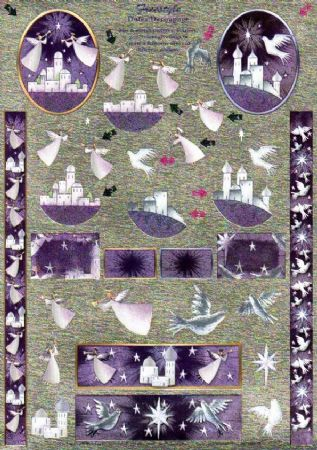 Christmas Angels Freestyle 3d Decoupage Sheet From Dufex